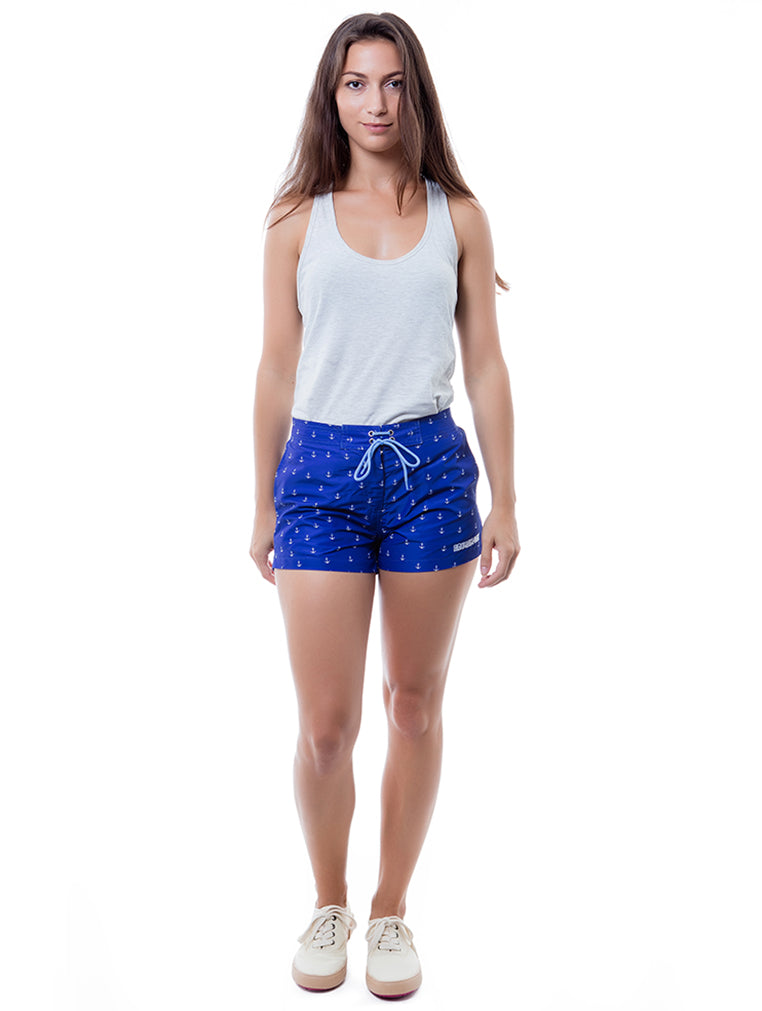 Anchor Blue Beach Ladies Short
