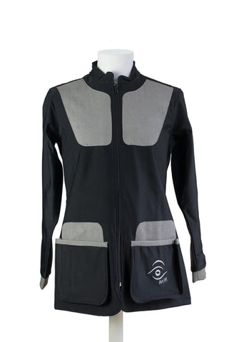 women's winter shooting jacket black & grey