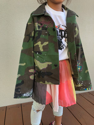 vintage kids camo jacket : customized : 1 of 1