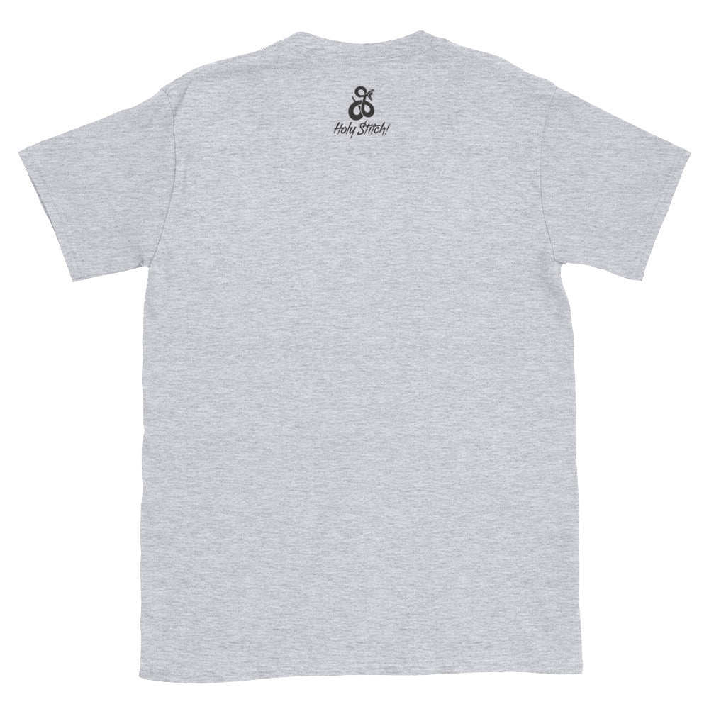 Holy Stitch! Sewing Club T Shirt (white & grey)
