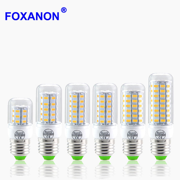5730 SMD 24 - 72LEDs CFL 10W 15W 20W E14 E27 LED lamp 230V Spotlight Candle light LEDs Bulb Chandelier For Indoor lighting