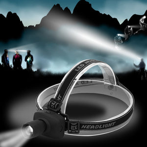 Konesky LED Headlamp White Headlight Camping Fishing Hiking Hunting Riding Head light Cabeza Fog Lamp Flashlight