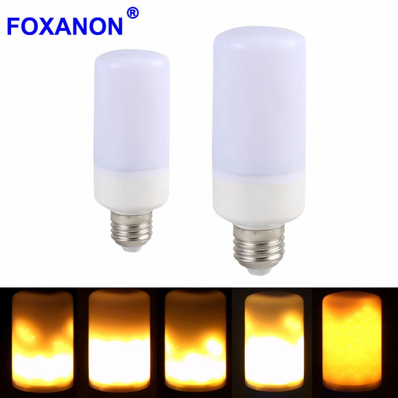 New E27 B22 LED flame lamp Flame Light Effect Fire Corn Bulb 220V 110V 2835SMD Flickering Emulation Night Lights 1900K New Year