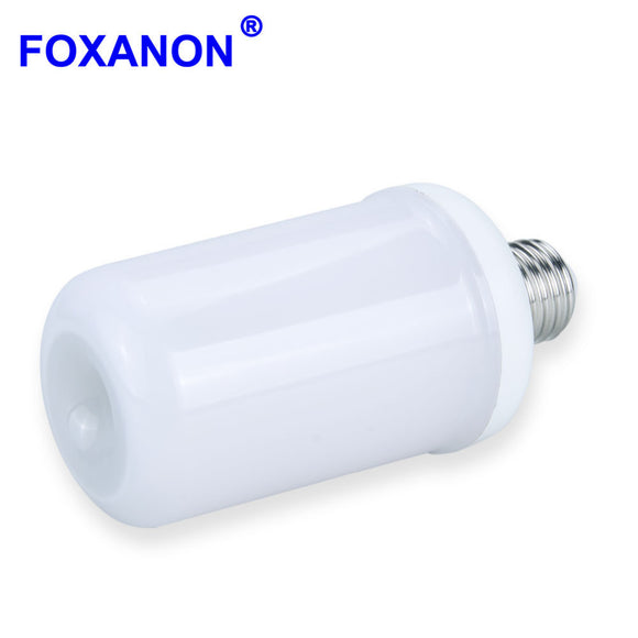 Foxanon E27 110V 220V LED Flame lamp Corn Bulb Flame light lantern Simulated Flicker Effect Novelty New Year Decorate 3528 Diode