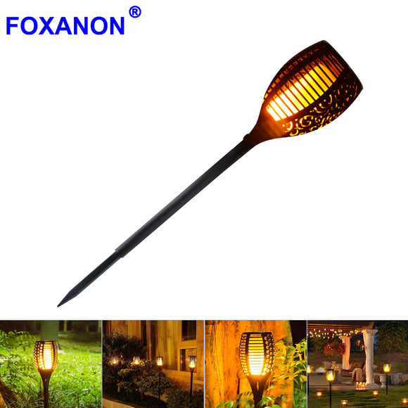 New Solar Flame led Flame Light fire effect Lawn Lamps Torch Light Realistic Flicker IP65 Outdoor Garden Decor night lighting