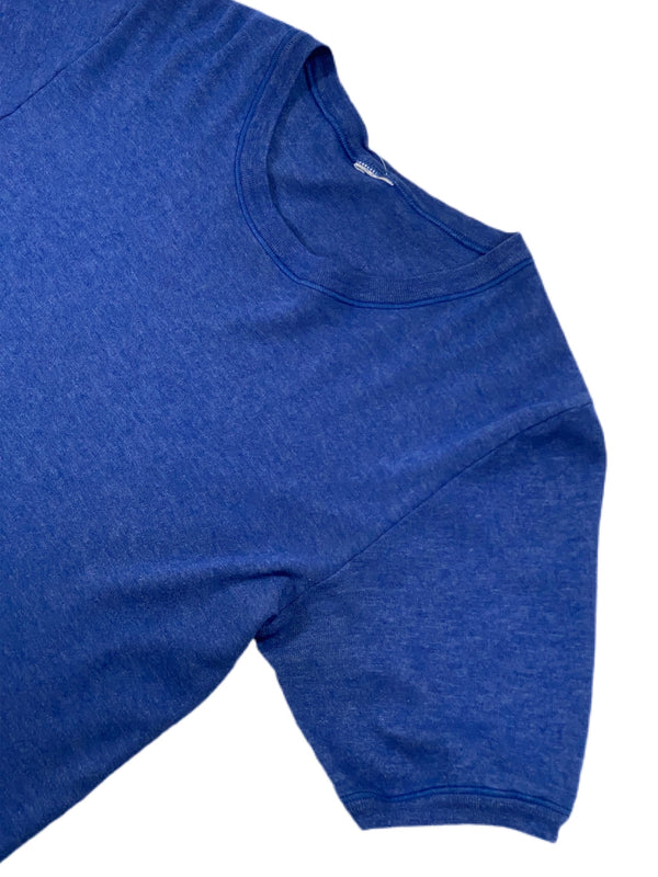 (L) Vintage Royal Blue Soft Ringer Tee 032421