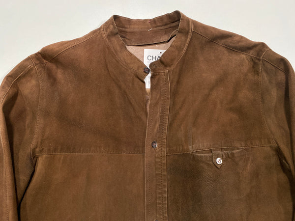 (L) Vintage 60's  Leather Button-Up Shirt - 091720