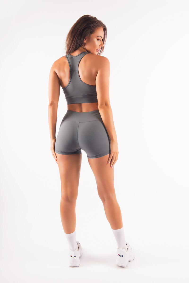 HYPED SPORTS BRA - CHARCOAL
