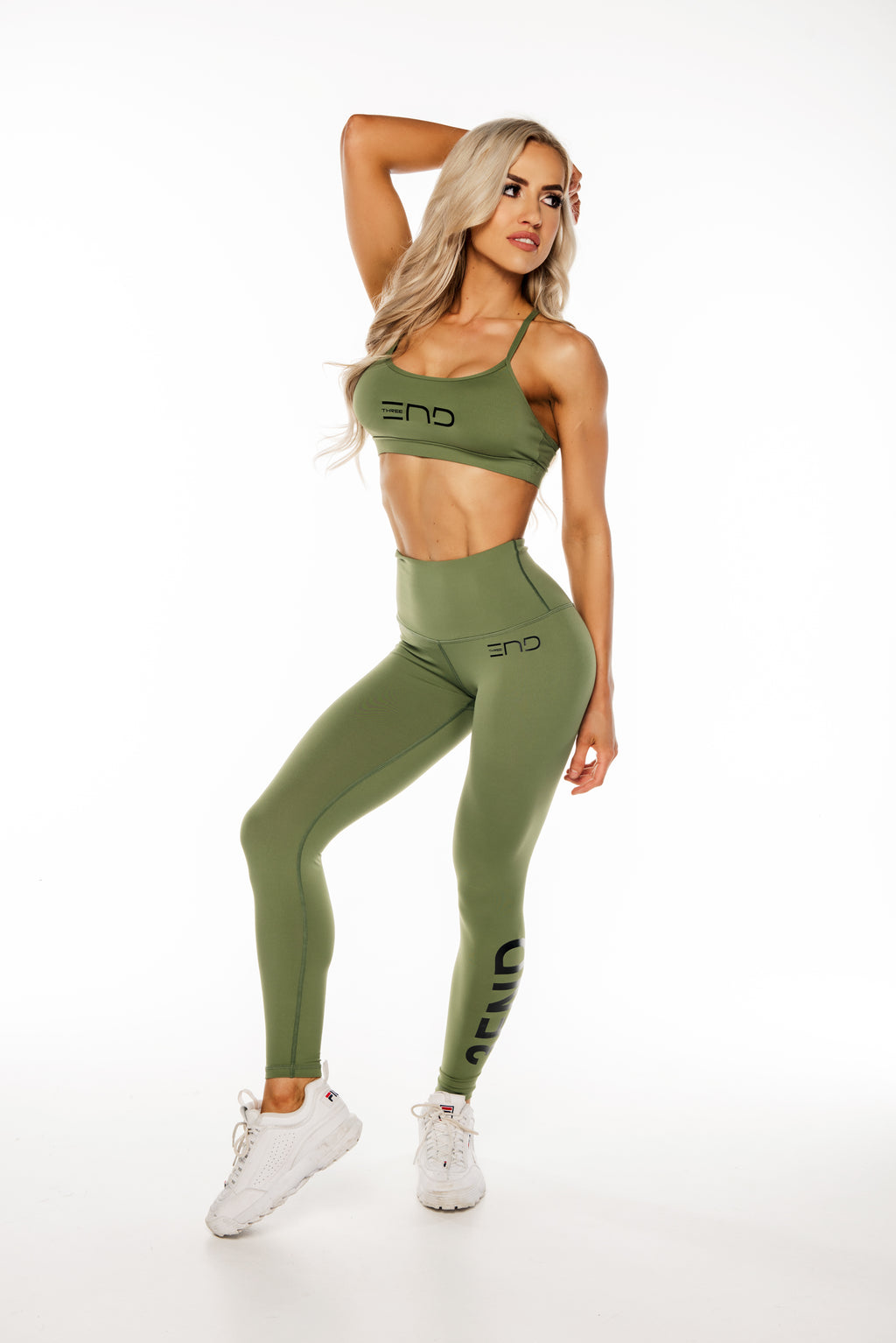MILITARY HIGH WAIST LEGGINGS - KHAKI