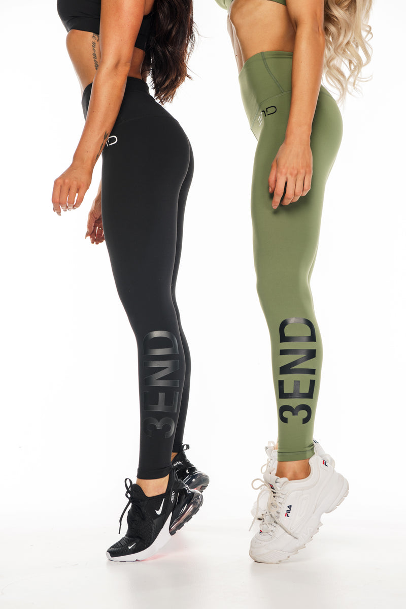 MILITARY HIGH WAIST LEGGINGS - BLACK