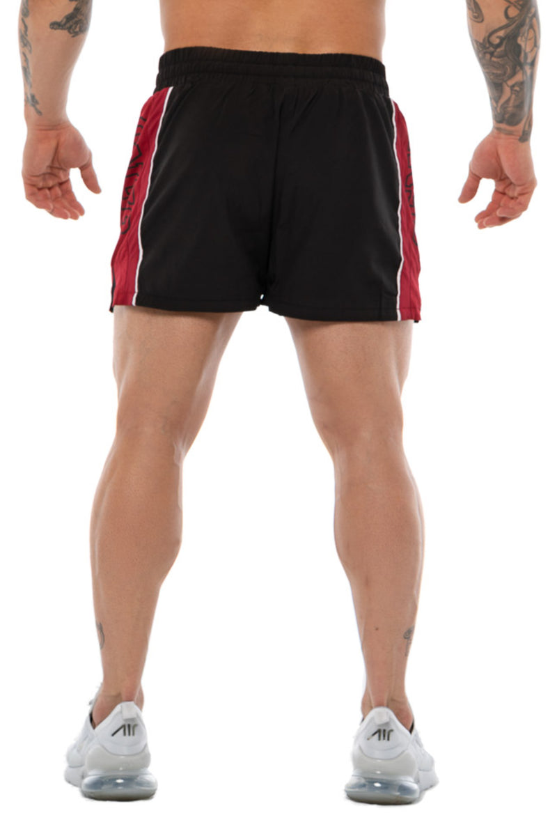 LIFTING SHORTS - BLACK/MAROON
