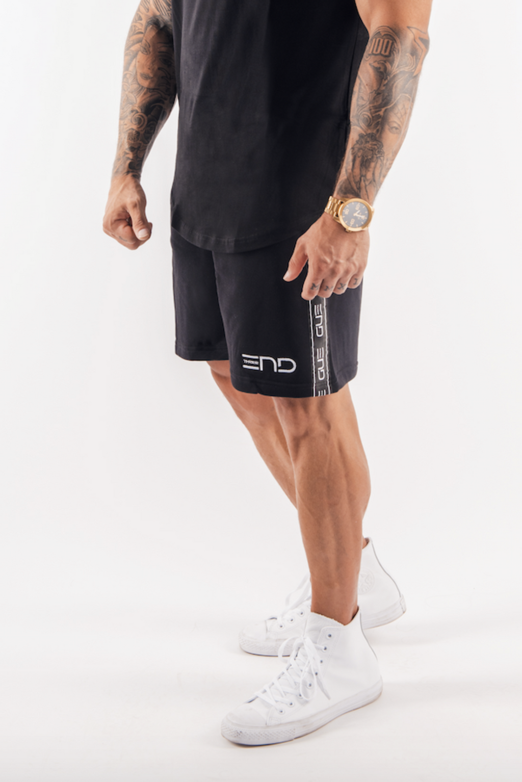 URBAN TAPE SHORTS - BLACK