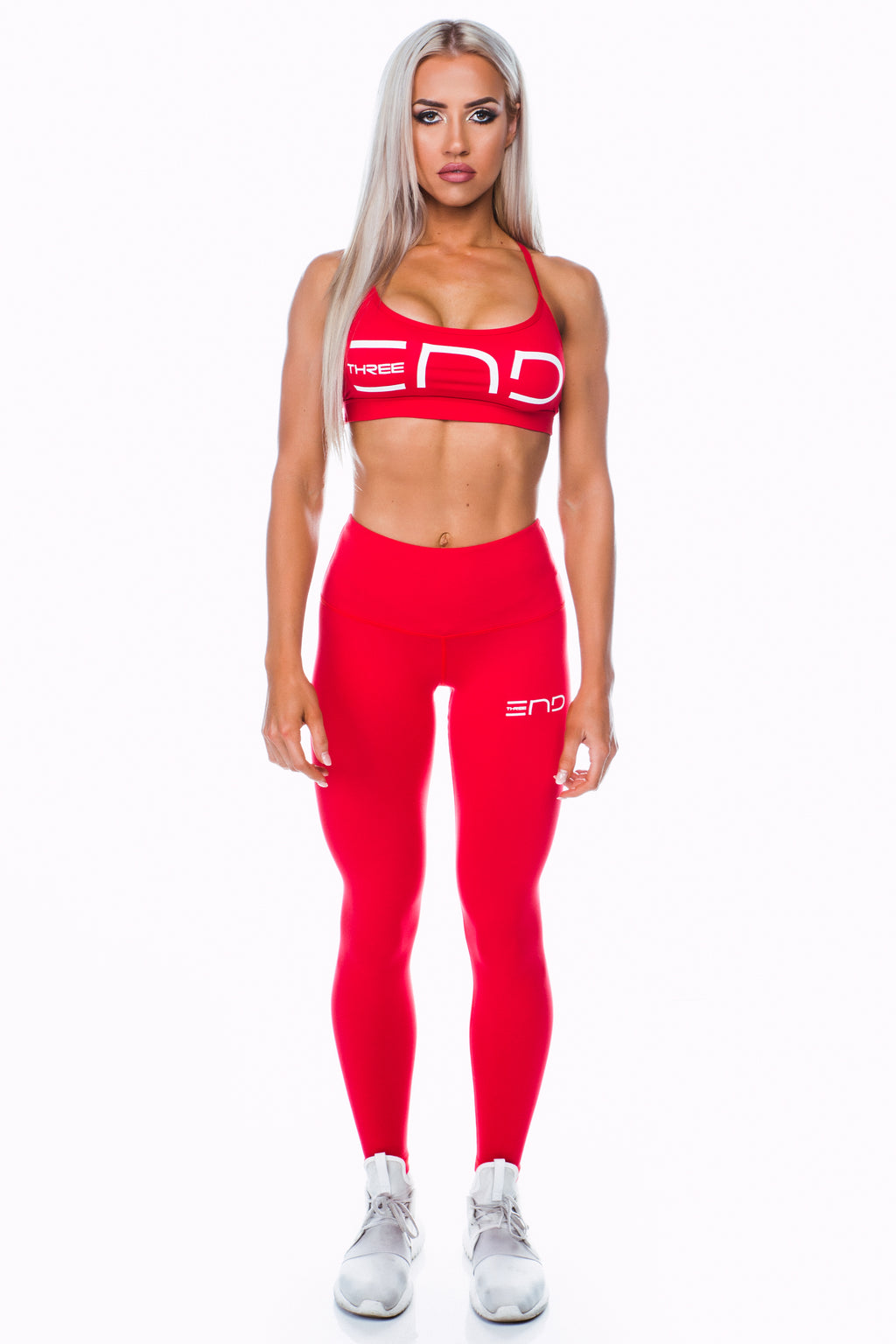 BOSS HIGH WAIST LEGGINGS - RED