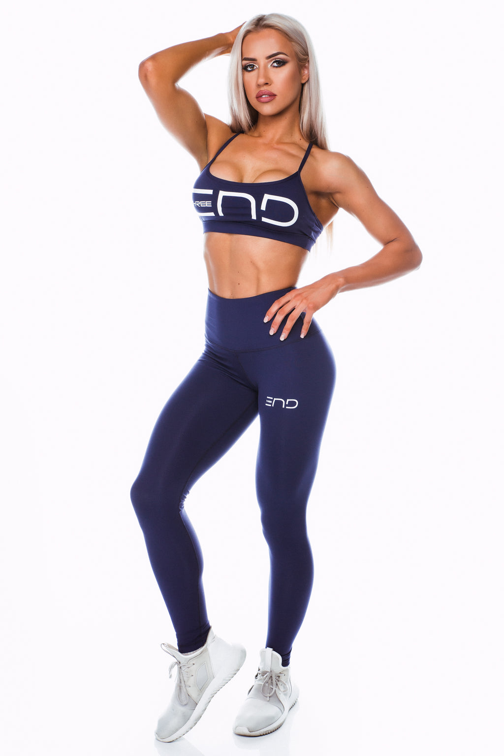 BOSS HIGH WAIST LEGGINGS - NAVY
