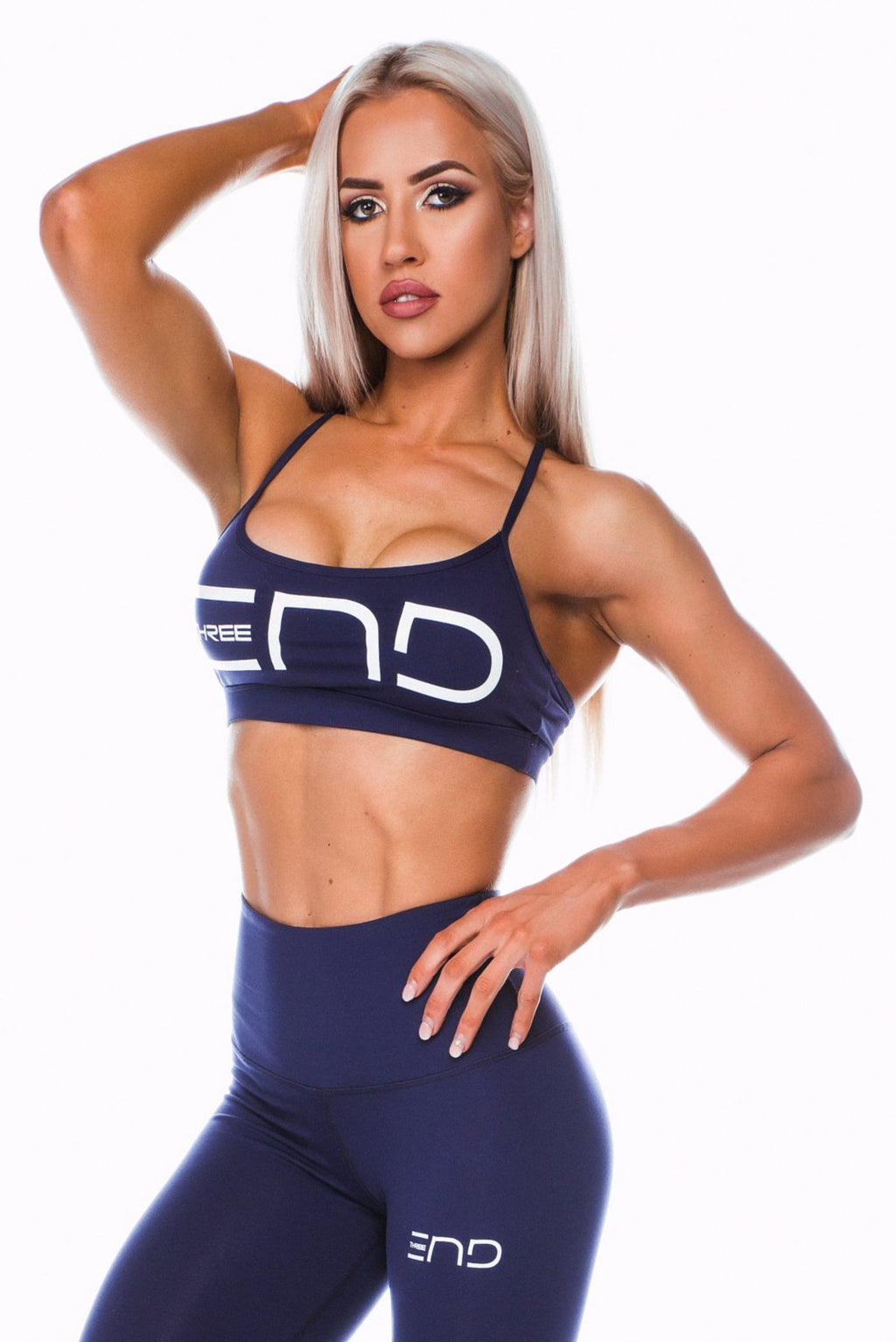 BOSS SPORTS BRA - NAVY