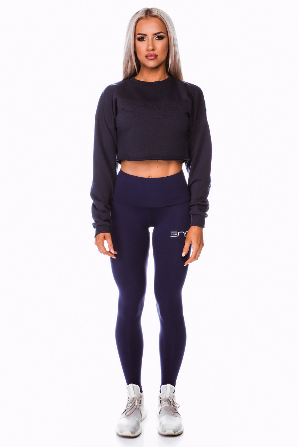 SHORTY CROP JUMPER - NAVY