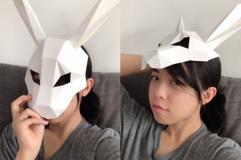 Mask on head