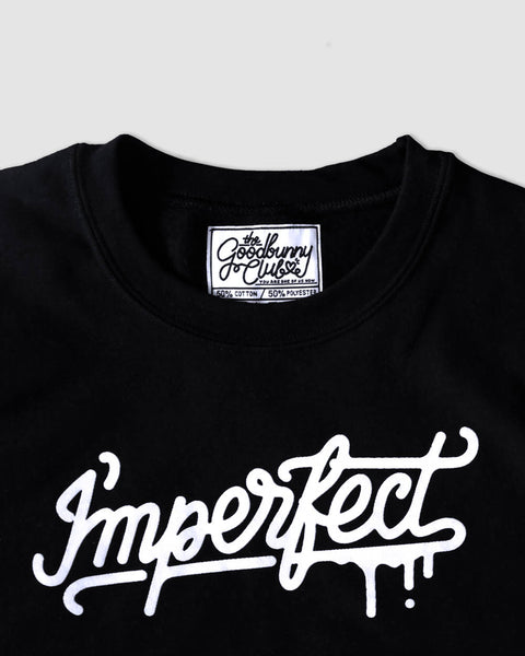 """I'mperfect"" Sweatshirt in Black"