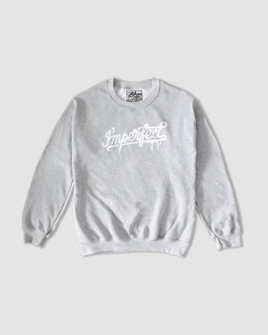 """I'mperfect"" Sweatshirt in Grey"