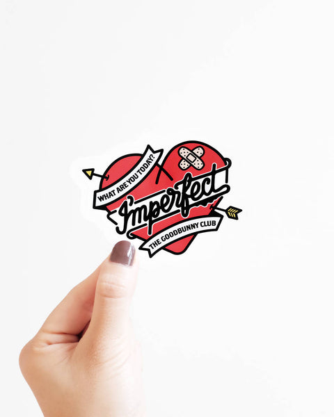 """I'mperfect"" Heart Vinyl Sticker"