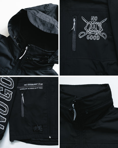 """No Good"" Windbreaker (Black)"