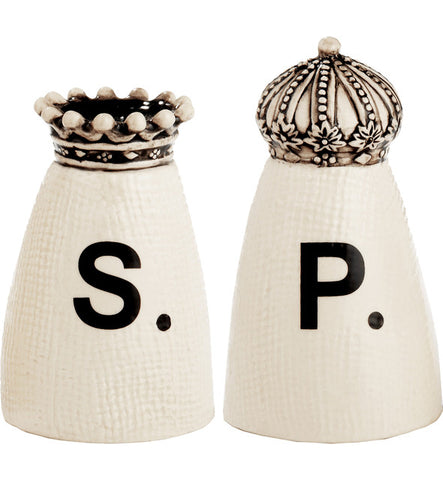 Rae Dunn Boutique Crown Salt and Pepper Shakers