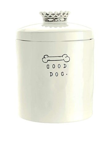 Rae Dunn Good Dog Treat Canister with Crown
