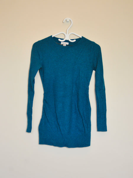 Knit Teal Crew-Neck