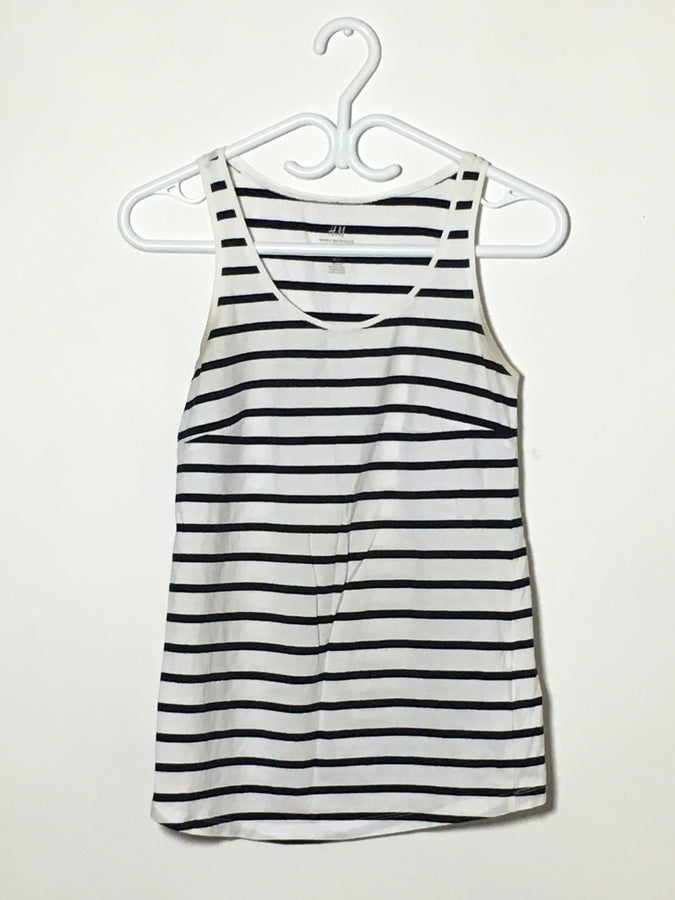 White Stripes Tank