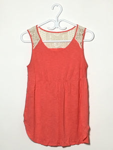 Coral & Lace Tank