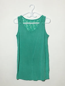 Teal Lace-Back Tank