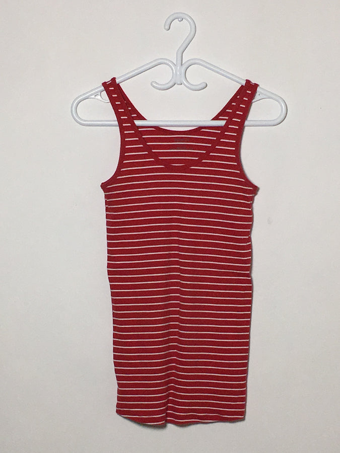 Red Stripe Ribbed Tank