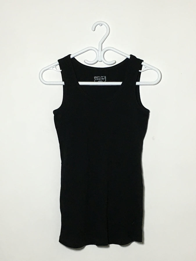 Black Ribbed Tank (2)