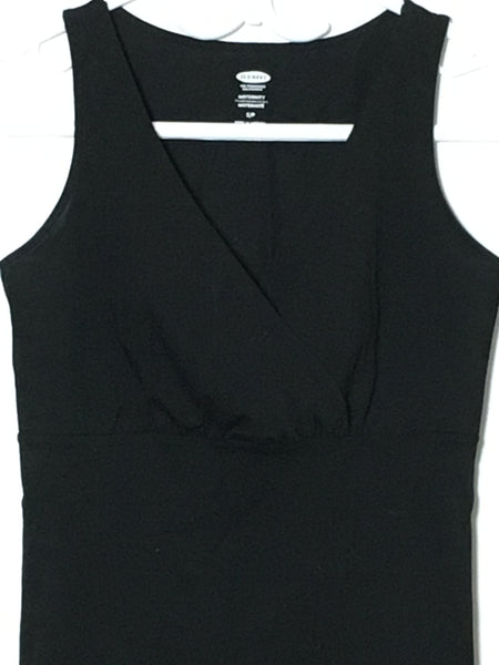 Black Criss-Cross V-Neck Tank