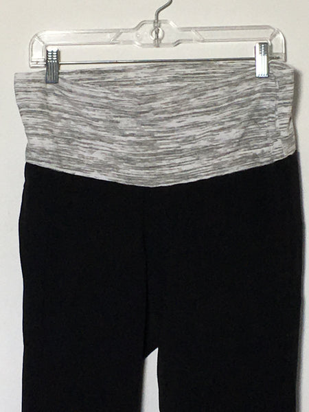 Grey/Black Stretch Capris
