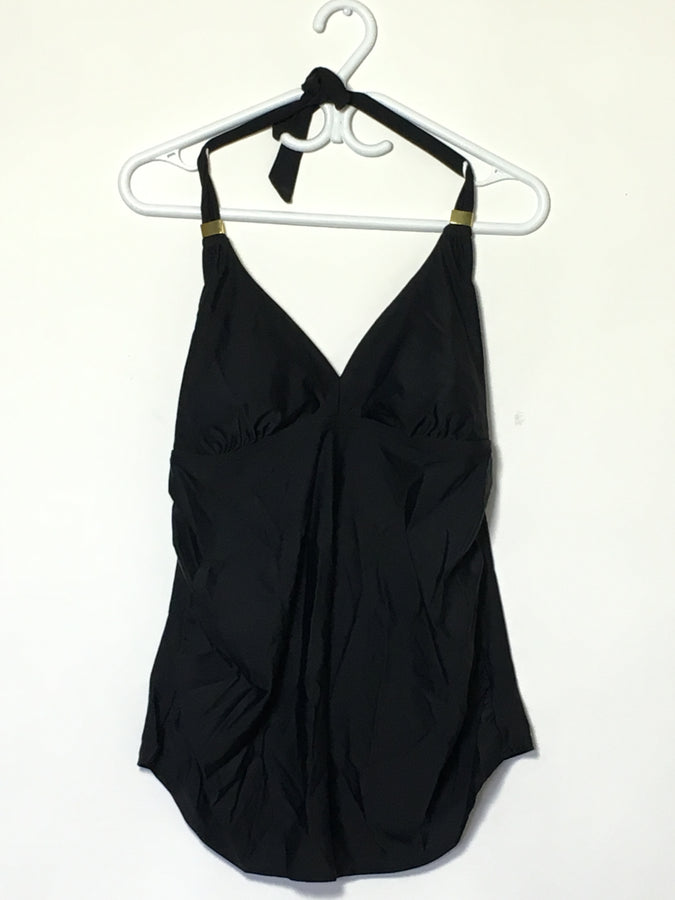 Black/Gold Detail Swim Halter