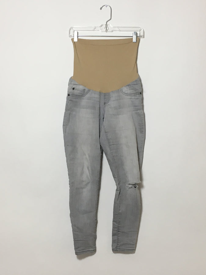 Distressed Light-Wash Jeans