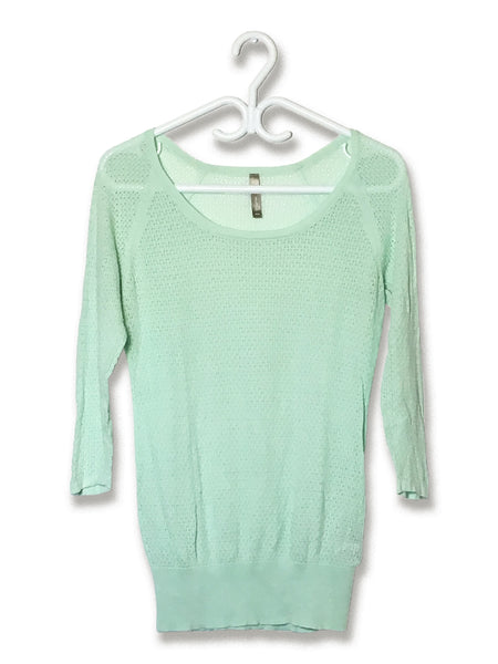 Perforated Seafoam Top