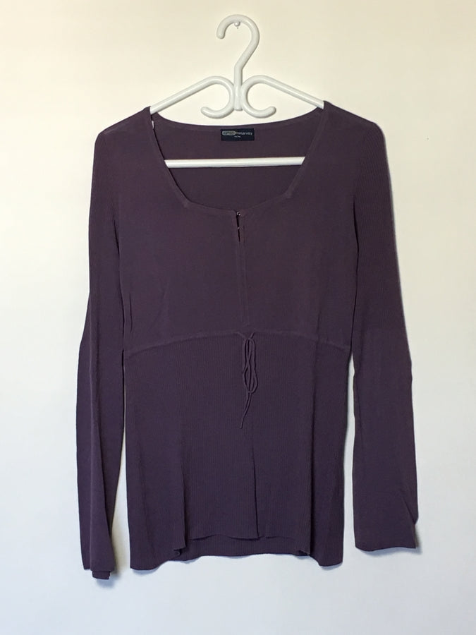 Plum Square-Neck Top