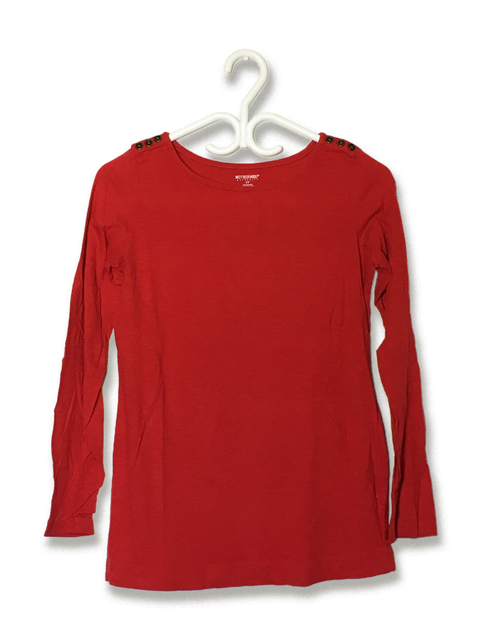 Button-Shoulder Longsleeve