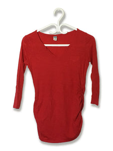 Red Longsleeve V-Neck