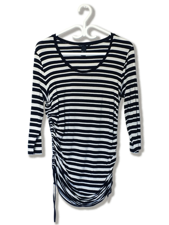 3/4 Sleeve Stripe Top