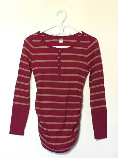 Striped Pink Thermal Henley