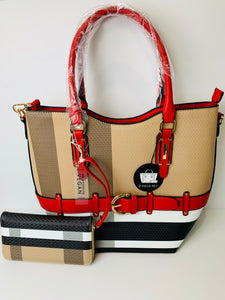 Red Plaid 2-in-1 Handbag