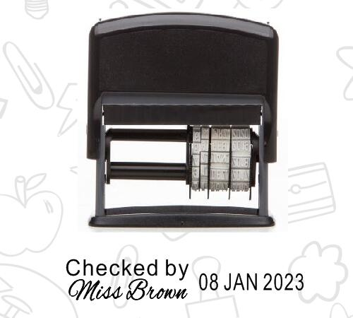 Name and date stamp plus