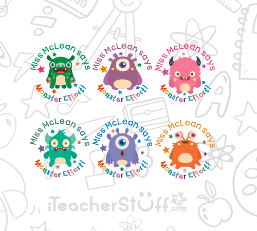 Monster Stickers - iTeacherStuff