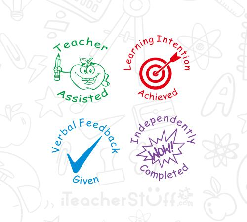 Teacher Feedback stamp Set
