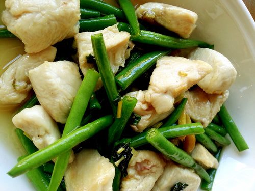 Herbed French Beans & Chicken with Rice