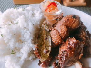 Day Old Chicken Adobo with Rice