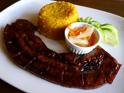 Grilled Pork Belly with Java Rice